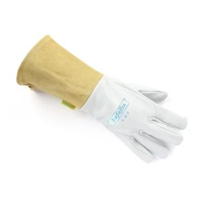 WELDAS/威特仕 白色羊青皮长袖筒焊接手套 10-1009 L 34cm,工具设备,劳保用品,焊接防护