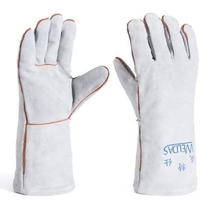 WELDAS/威特仕 灰色牛二层颈皮斜拇指焊接手套 10-2112 L 34cm,工具设备,劳保用品,焊接防护