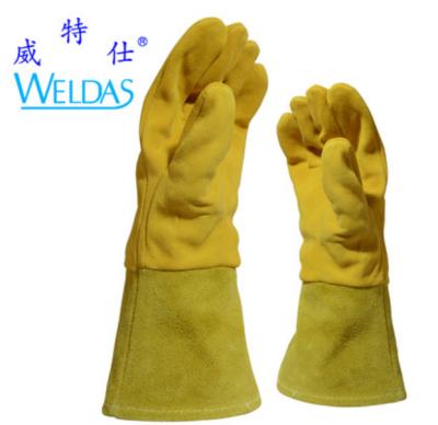 WELDAS/威特仕 金黄色鹿二层皮中袖筒焊接手套 10-2327 L 31cm