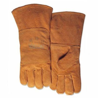 WELDAS/威特仕 尊黄色牛二层双背皮焊接手套 10-2118 L 34cm