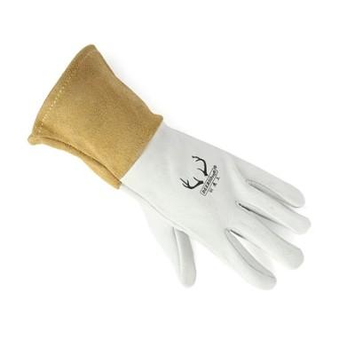 WELDAS/威特仕 白色鹿青皮中袖筒焊接手套 10-2304 XL 34cm