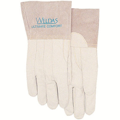 WELDAS/威特仕 白色牛青皮中袖筒焊接手套 10-2036 L 29cm