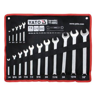 """YATO/易尔拓 英制两用扳手组套 YT-48852 16件 1/4""""-1.1/4"""" 1套"""