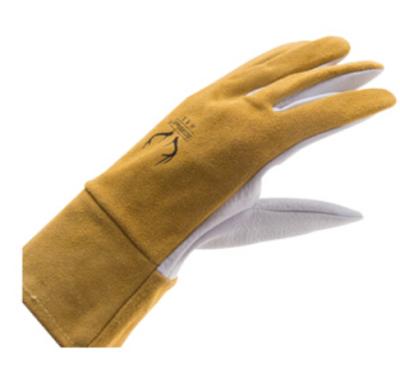 WELDAS/威特仕 白色鹿青皮掌短袖筒焊接手套 10-2374 L 28cm