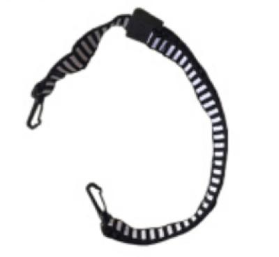MSA/梅思安 国标D型下颚带 9100001-SP 挂钩式 与帽壳连接 日字扣调节
