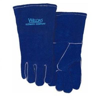 WELDAS/威特仕 彩蓝色斜拇指焊接手套 10-0160 S 35cm