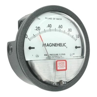 DWYER/德威尔 2000系列指针式差压表 2000-125PA 铸铝外壳 有机玻璃斜面面板 表盘直径为4˝
