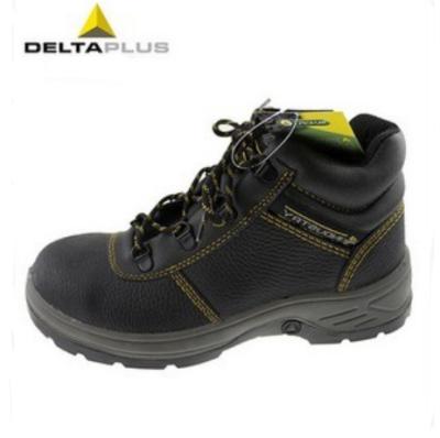 DELTA/代尔塔 LANTANA 4x4系列中帮牛皮安全鞋 301904 黑色 防砸防静电防刺穿 橡胶大底