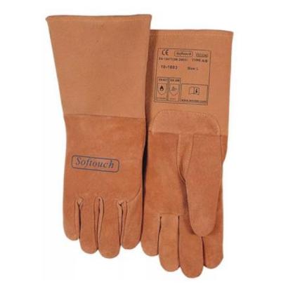 WELDAS/威特仕 绒面猪青皮长袖筒焊接手套 10-1003 L 34cm