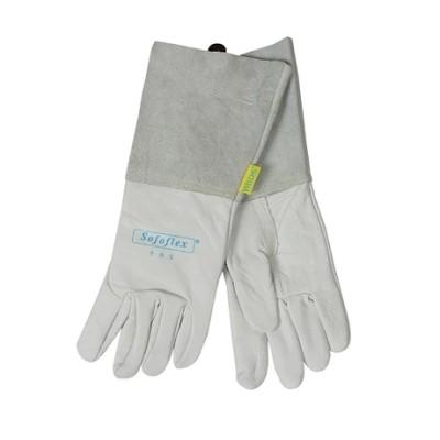 WELDAS/威特仕 白色牛青皮长袖筒焊接手套 10-1005 L 34cm,工具设备,劳保用品,焊接防护