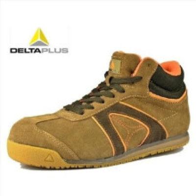 DELTA/代尔塔 D-SPIRIT系列中帮翻毛皮安全鞋 301343棕色 防砸防静电防刺穿