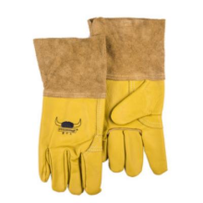 WELDAS/威特仕 金黄色牛青皮中袖筒焊接手套 10-2777 L 30cm